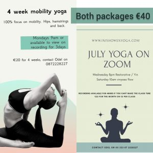 July Yoga Packages