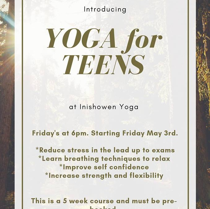 Yoga for Teens, New Class