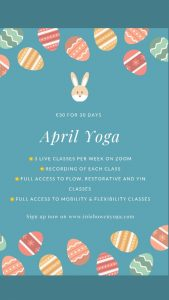 April Online Yoga